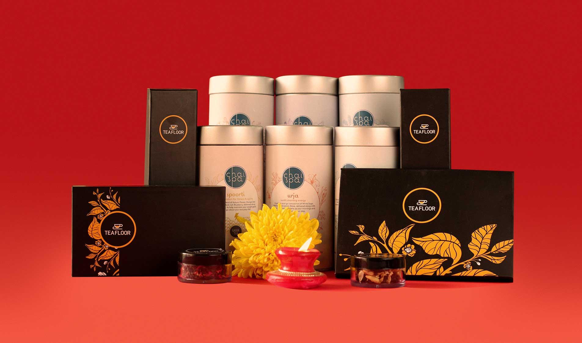 diwali tea gift boxes